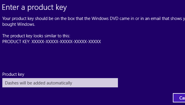 how to activate product key for windows 8.1
