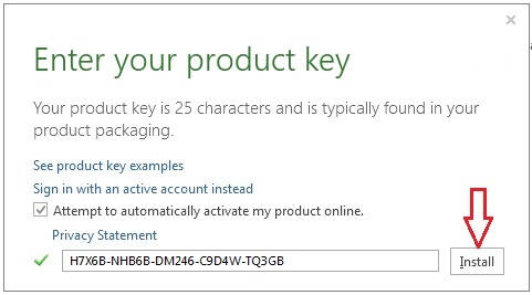 office 2013 activation key 2018