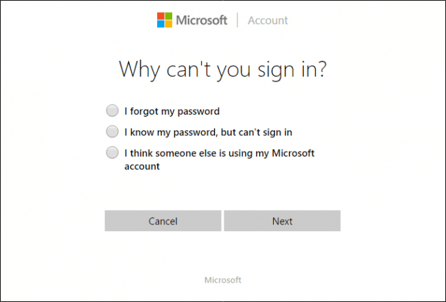password reset tool for microsoft live account