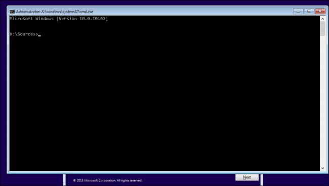 windows 10 password reset using command prompt