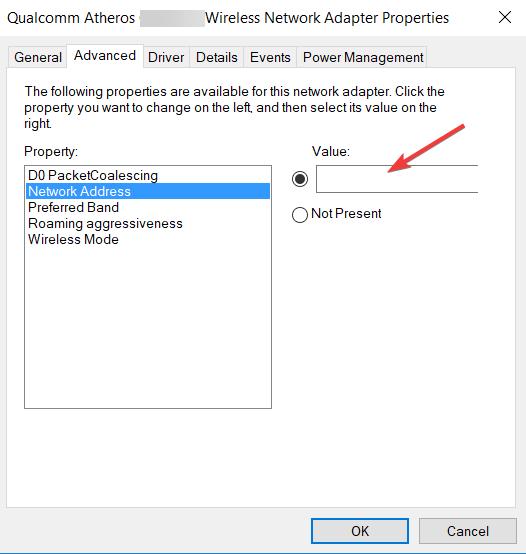 Change MAC Address to fix DNS server not responding error on windows