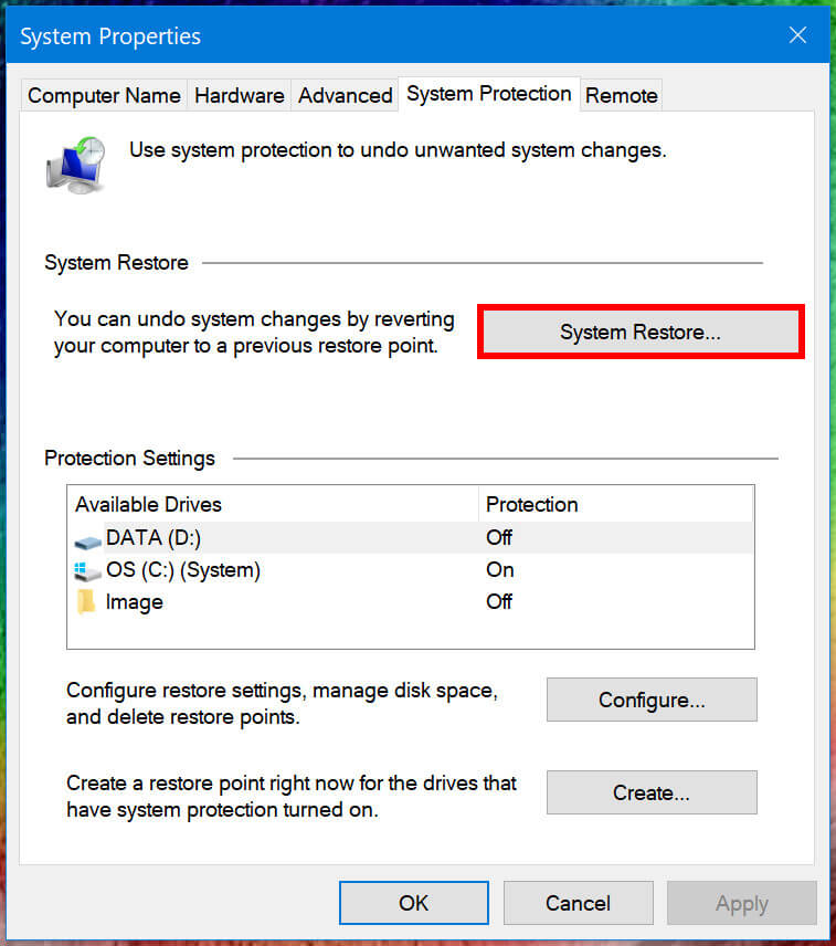 Efficient Way to Restore Windows 10
