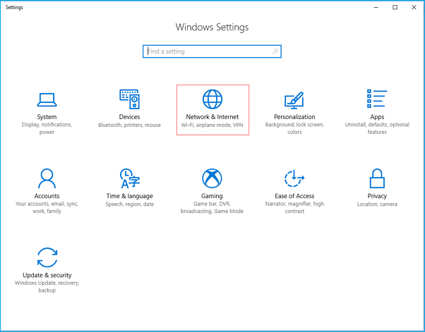 Use Metered Connection Feature to Disable Windows 10 Update