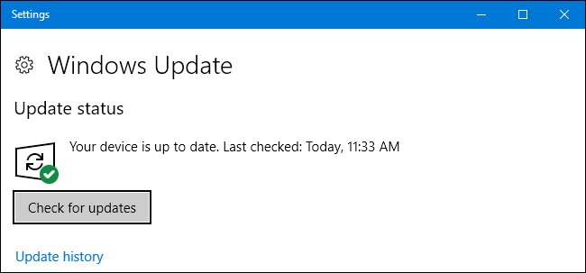 Use Windows Update option to keep your system and drivers up to date in Windows 10