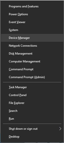 click on theDevice Manager