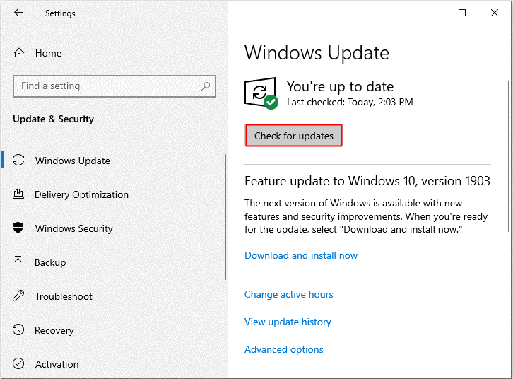 Fix Msvbvm50.dll Missing Error on Windows 10 using windows 10 update
