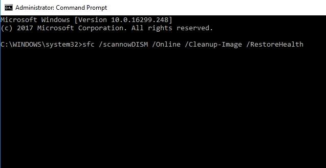 Run DISM Tool fix stop code critical process died error