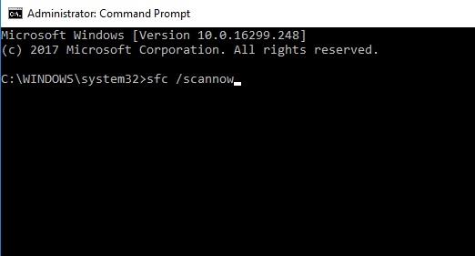Run System File Checker to fix critical process died windows 10 error