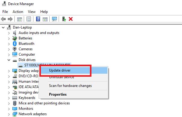 Update the Drivers to fix windows 10 critical process died error