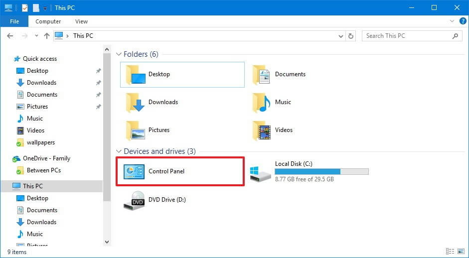how to find control panel in windows 10 using Quick Access Menu