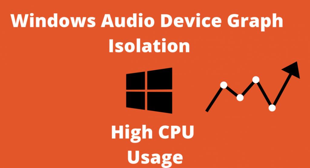 Windows audio device graph isolation high CPU usage